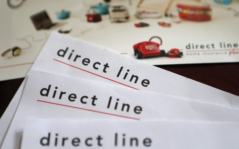 FILE PHOTO: A photo illustration shows insurance renewal notices from Direct Line in London