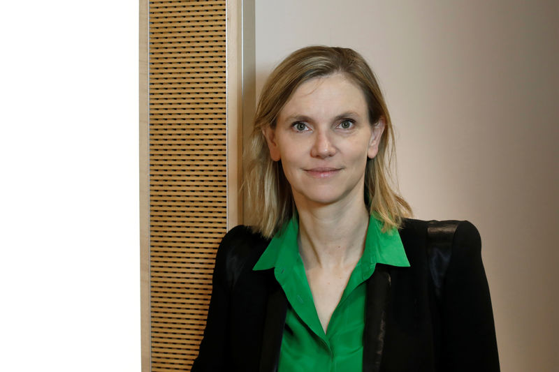 French Junior Economy Minister Agnes Pannier-Runacher poses after an interview with Reuters in Paris