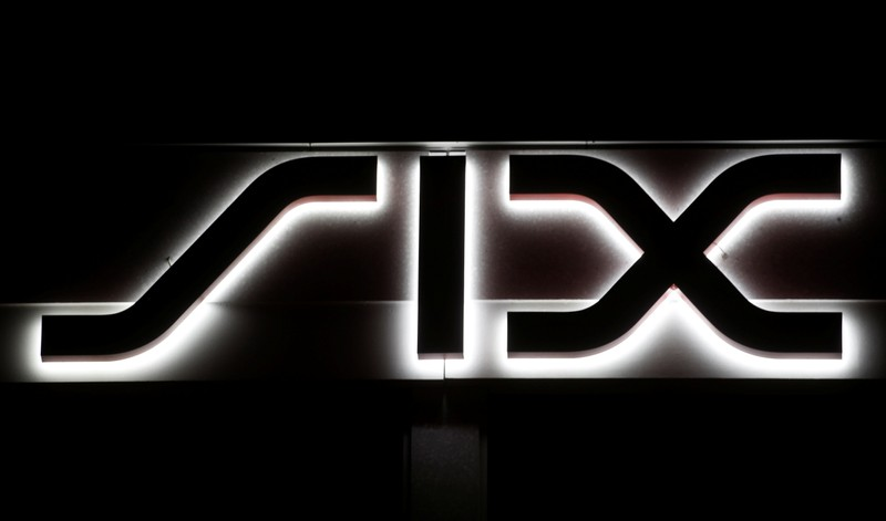 A logo is seen at the seat of Swiss stock exchange operator SIX Group in Zurich