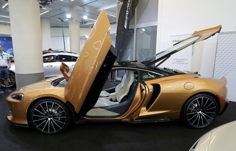 FILE PHOTO: The McLaren Grand Tourer is seen during a world premiere at the Top Marques fair in Monaco