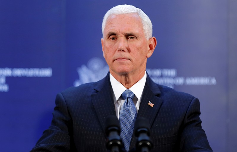 FILE PHOTO: U.S. Vice President Mike Pence visits Turkey