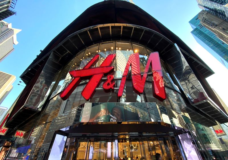 FILE PHOTO: The H&M clothing store is seen in Times Square in New York, United States