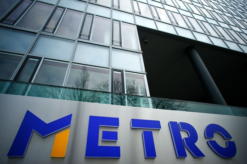 German retailer Metro AG sign is seen on the headquarters in Duesseldorf