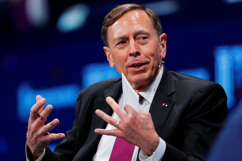David Petraeus, Chairman, KKR Global Institute speaks at the Milken Institute 21st Global Conference in Beverly Hills, California