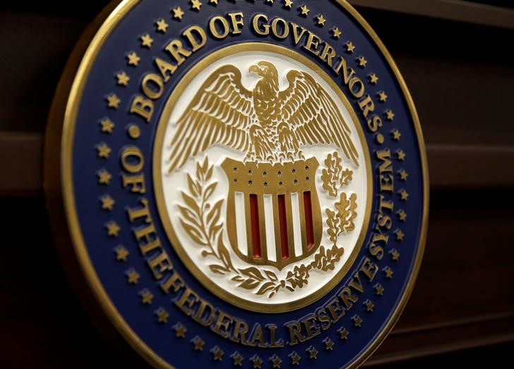 The seal for the Board of Governors of the Federal Reserve System is displayed in Washington