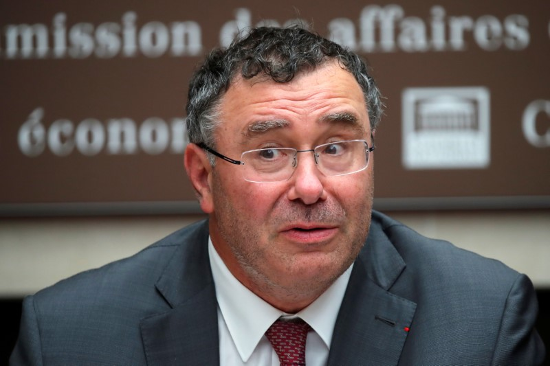 Total CEO Patrick Pouyanne attends a hearing of French parliament's economic commission at the National Assembly in Paris