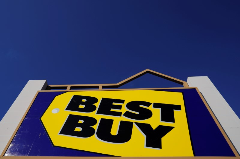 FILE PHOTO: A sign marks a Best Buy store in Salem