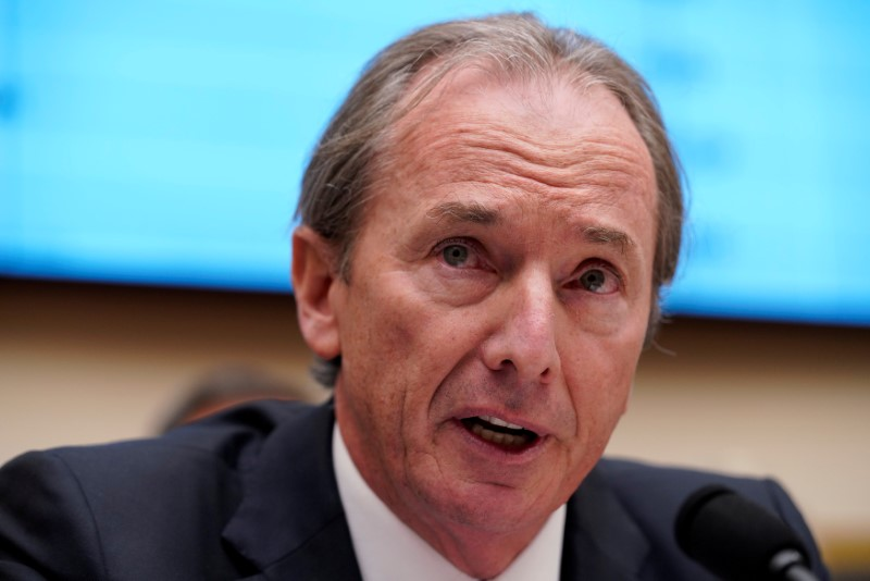 FILE PHOTO: James P. Gorman, chairman & CEO of Morgan Stanley, testifies before a House Financial Services Committee hearing on Capitol Hill in Washington