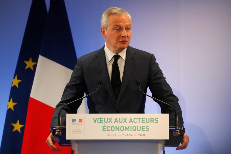 French Finance Minister Le Maire gives New Year's address to economic actors
