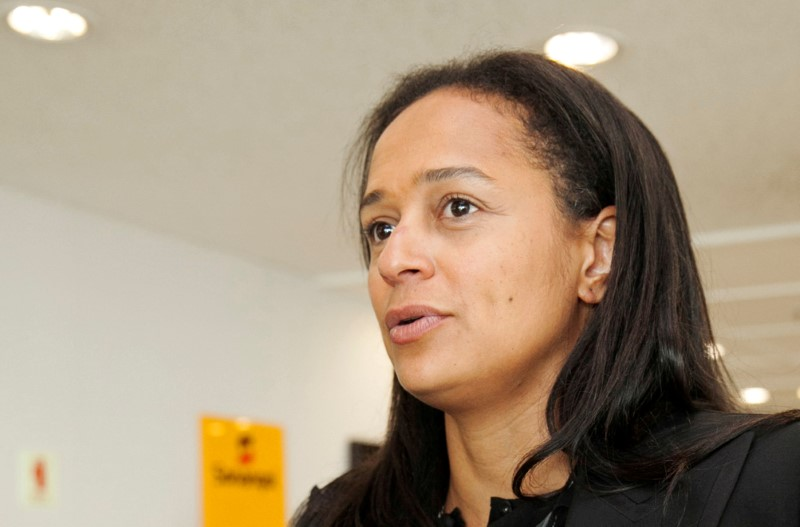 FILE PHOTO: Isabel dos Santos, the daughter of Angolan President Eduardo dos Santos, speaks during an interview in Luanda