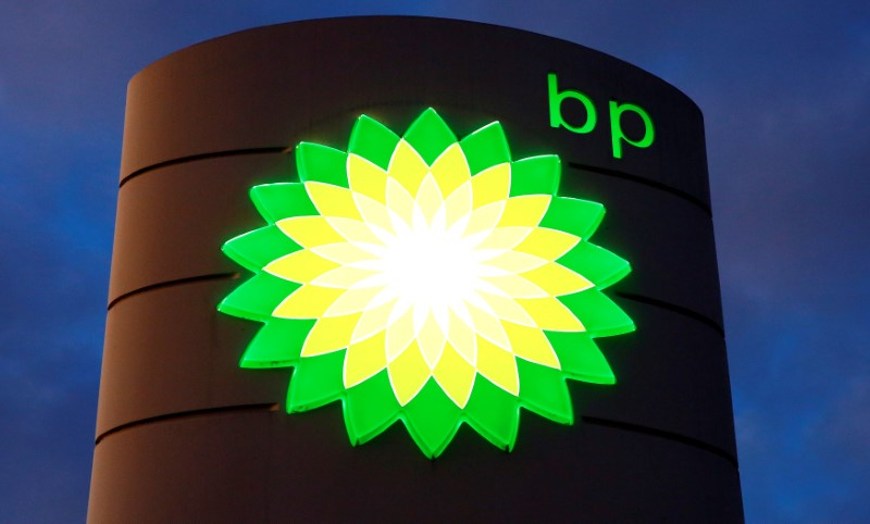 FILE PHOTO: Logo of BP is seen at a petrol station in Kloten, Switzerland