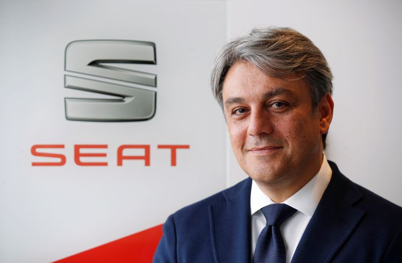 FILE PHOTO: SEAT's Luca de Meo at the Spanish carmaker's factory in Martorell, near Barcelona