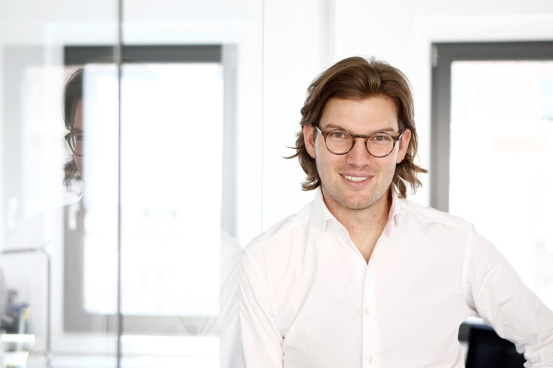 Valentin Stalf, Founder and CEO of the Fintech N26 (Number26), poses for a portrait in Berlin