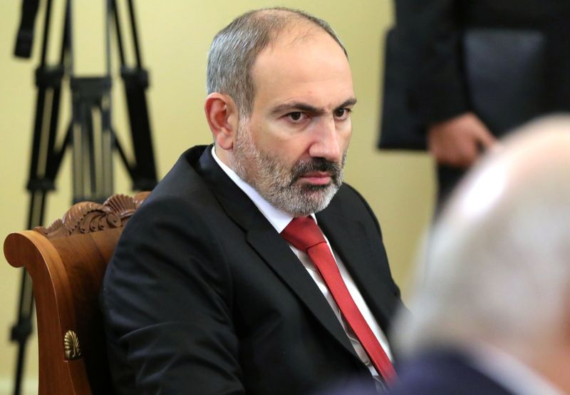 Armenian Prime Minister Nikol Pashinyan attends a meeting of heads of the Commonwealth of Independent States (CIS) in Saint Petersburg