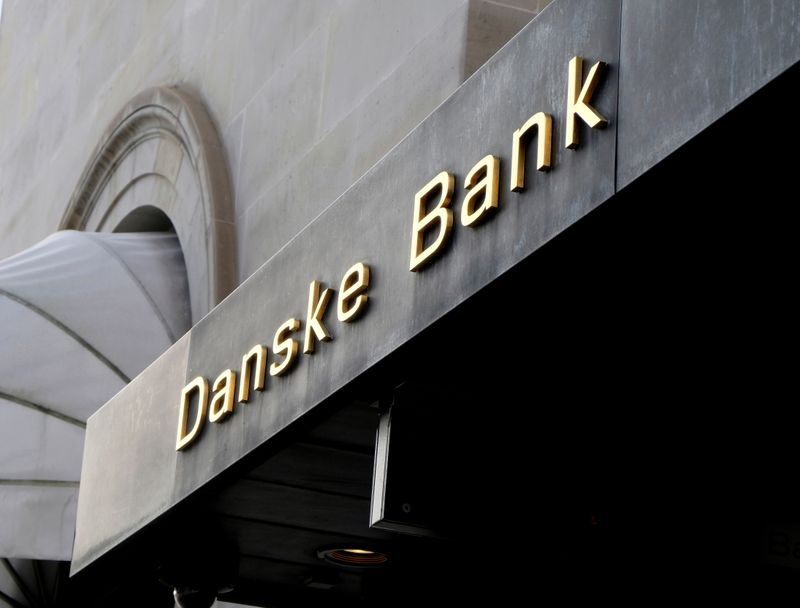 FILE PHOTO: A Danske bank sign is seen on a bank's headquarters in Copenhagen