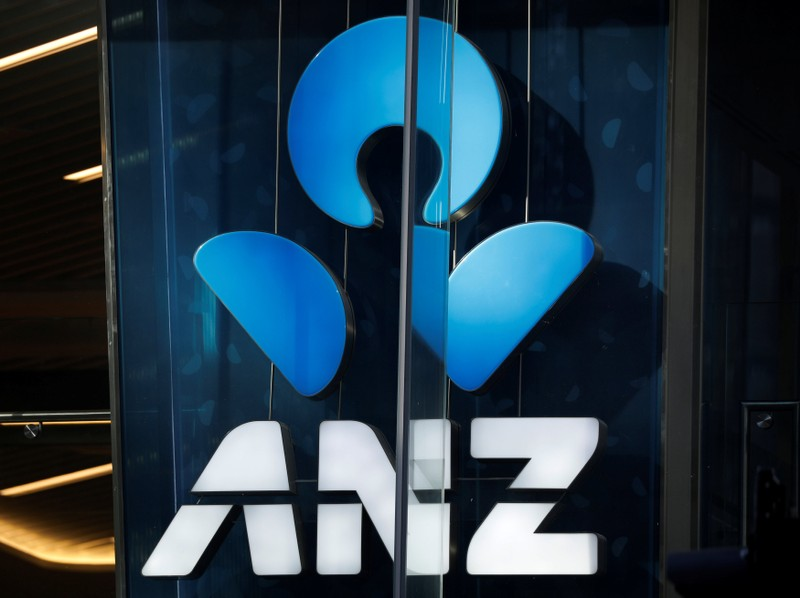 An ANZ bank logo is pictured in Sydney