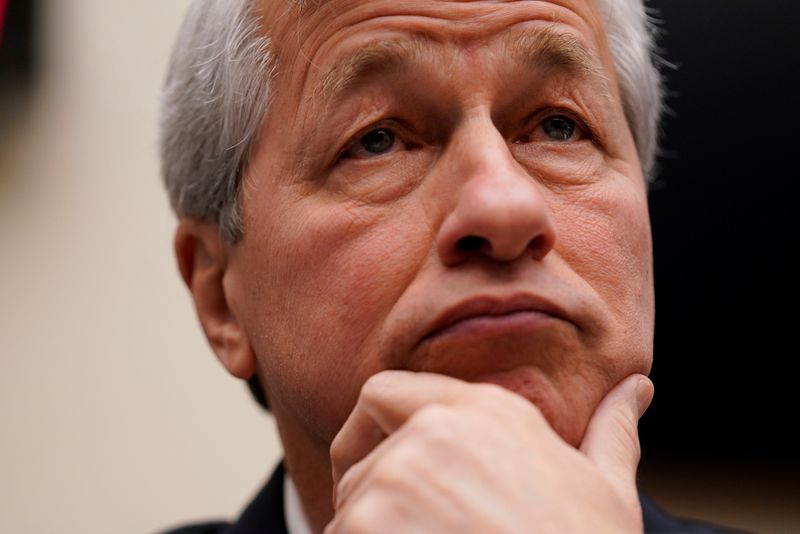 FILE PHOTO: Jamie Dimon, chairman & CEO of JP Morgan Chase & Co