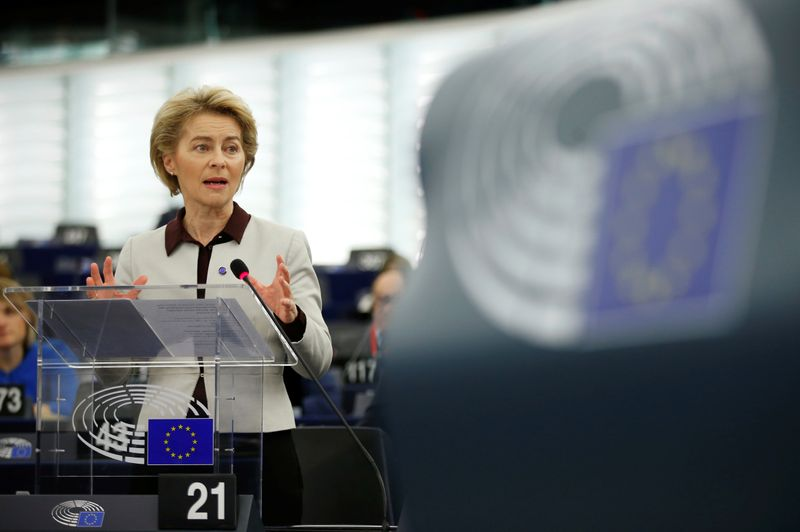 European Commission President von der Leyen addresses the European Parliament in Strasbourg