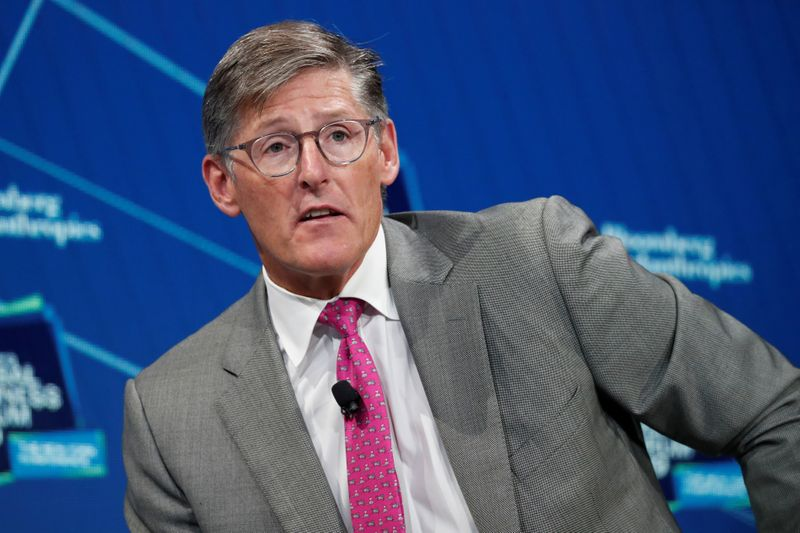 Michael Corbat, CEO of Citigroup, speaks during the Bloomberg Global Business Forum in New York City, New York