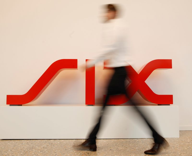 Logo Swiss stock exchange operator SIX Group is seen in Zurich