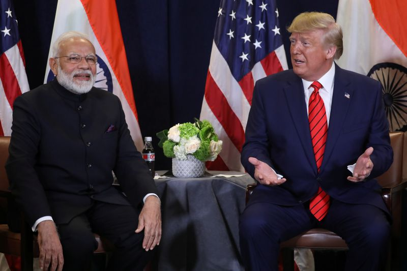 U.S. President Trump meets with India's Prime Minister Modi on sidelines of U.N. General Assembly in New York City