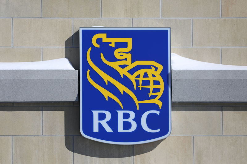The Royal Bank of Canada logo is seen outside of a branch in Ottawa