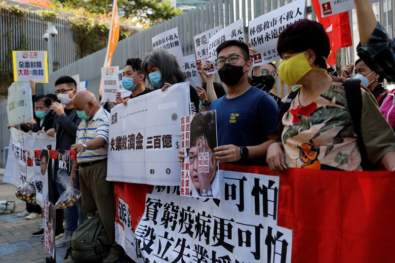 Hong Kong unveils record budget deficit to cushion blow from coronavirus, protests