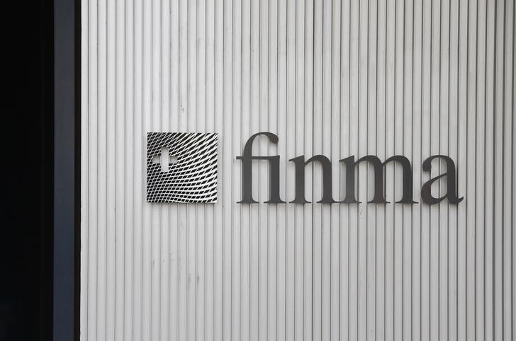 The logo of Swiss Financial Market Supervisory Authority FINMA is seen outside their headquarters in Bern