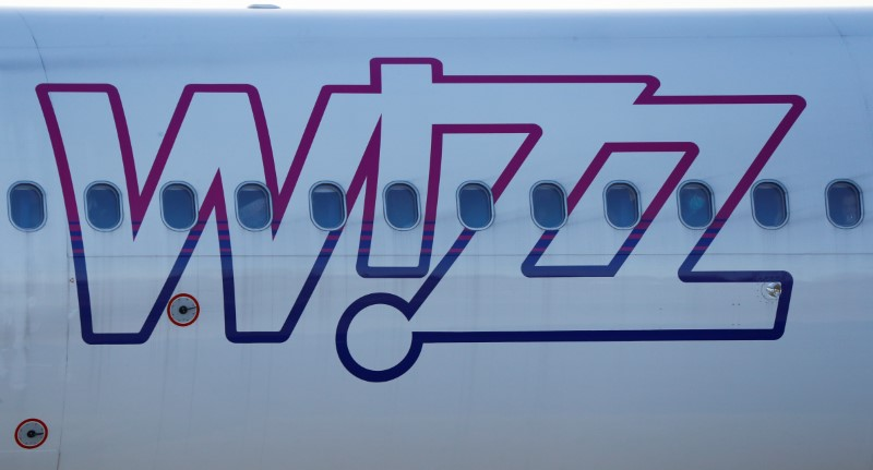 FILE PHOTO: Wizz Air Airbus 321-231 HA-LXJ aircraft taxis to runway at the Chopin International Airport in Warsaw