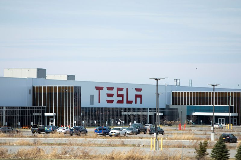 Tesla Inc. Gigafactory 2, which is also known as RiverBend, is pictured during the spread of coronavirus disease (COVID-19), in Buffalo, New York