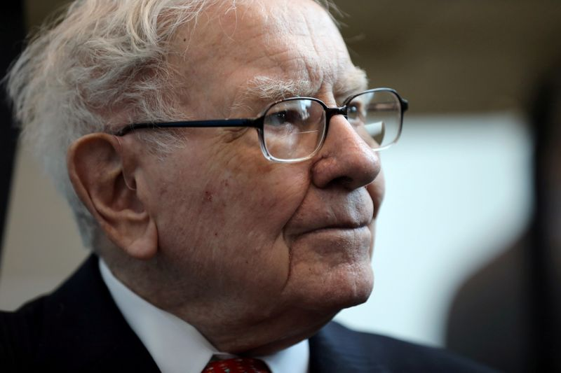 FILE PHOTO: Berkshire Hathaway Chairman Warren Buffett seen at the annual Berkshire shareholder shopping day in Omaha