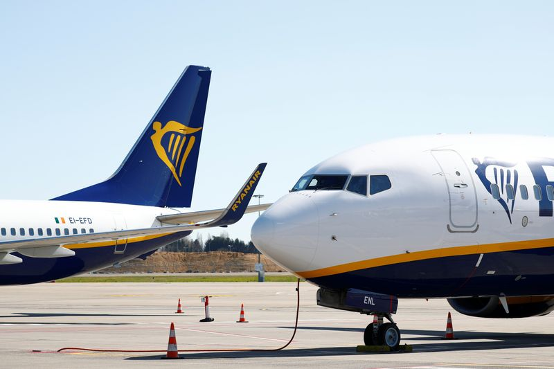 Ryanair keeps profit guidance, though March traffic halves