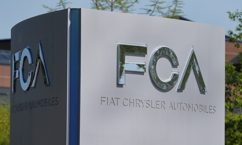 A Fiat Chrysler Automobiles sign at the U.S. headquarters in Auburn Hills, Michigan