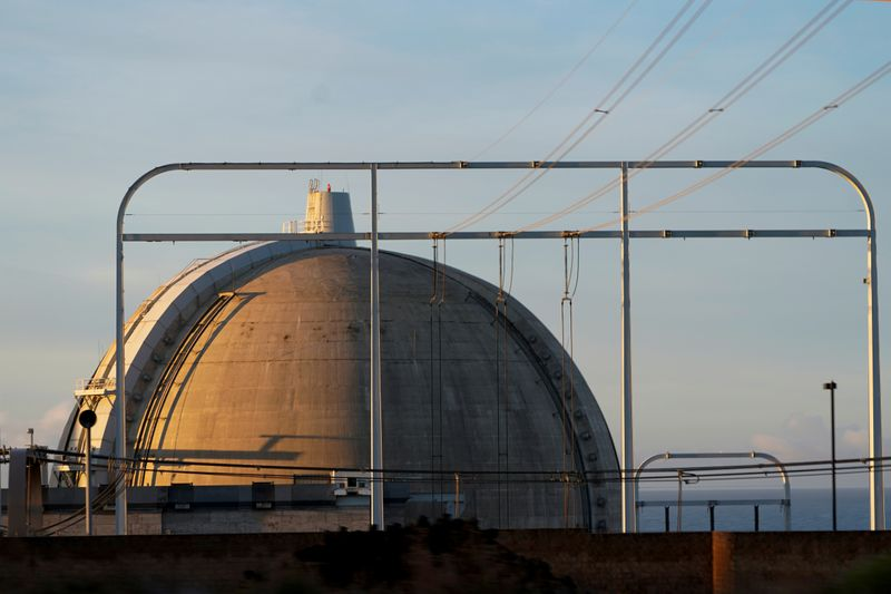 FILE PHOTO: One of the two now closed reactors of the San Onofre nuclear generating station is shown at the nuclear power plant located south of San Clemente