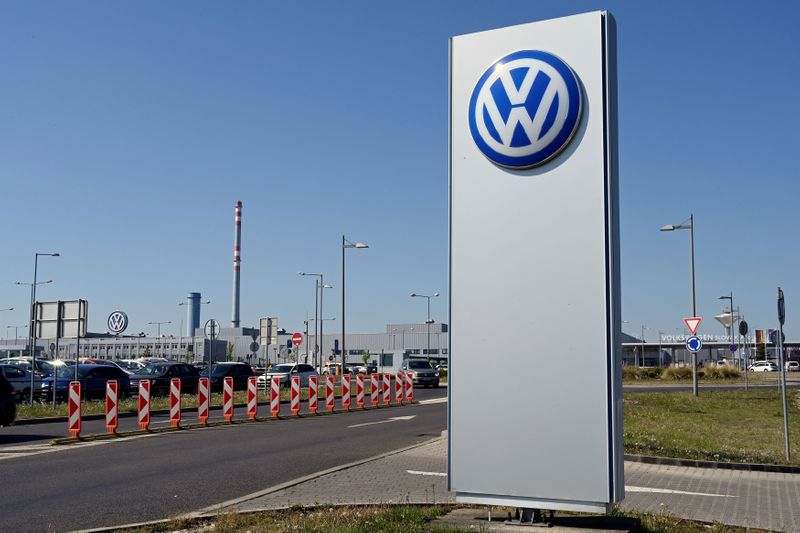 FILE PHOTO: A general view of the Volkswagen construction plant which reopened after closing down last month due to the coronavirus disease (COVID-19) outbreak in Bratislava