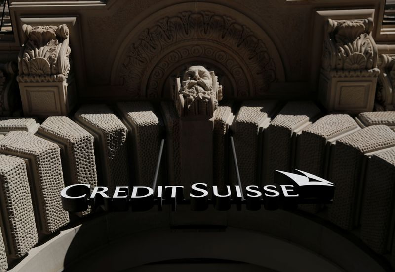 Logo of Swiss bank Credit Suisse is seen Zurich