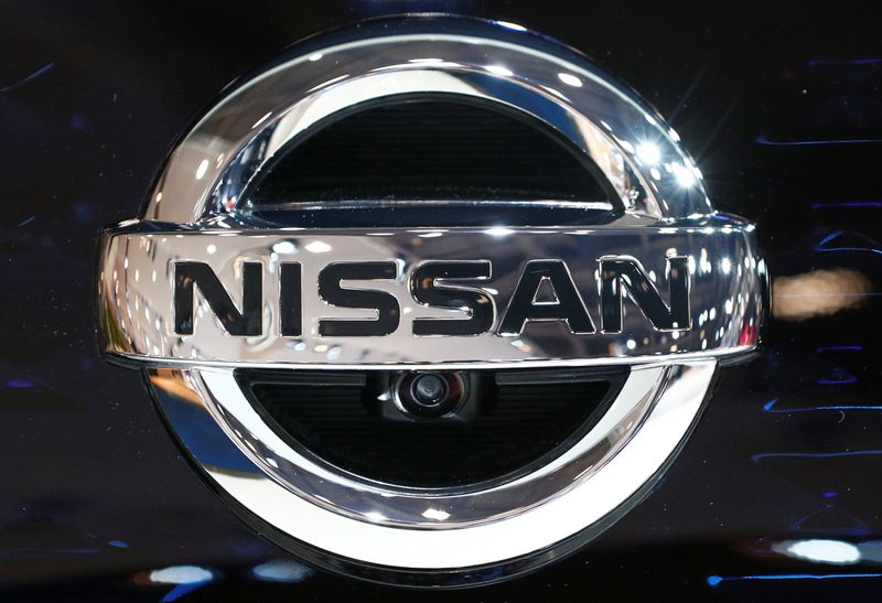 A Nissan logo is pictured at Brussels Motor Show