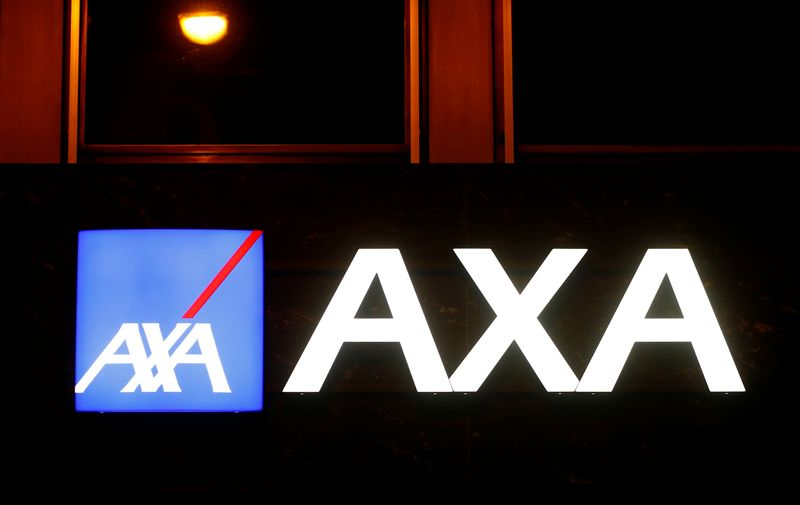 Logo of AXA insurance is seen in Basel