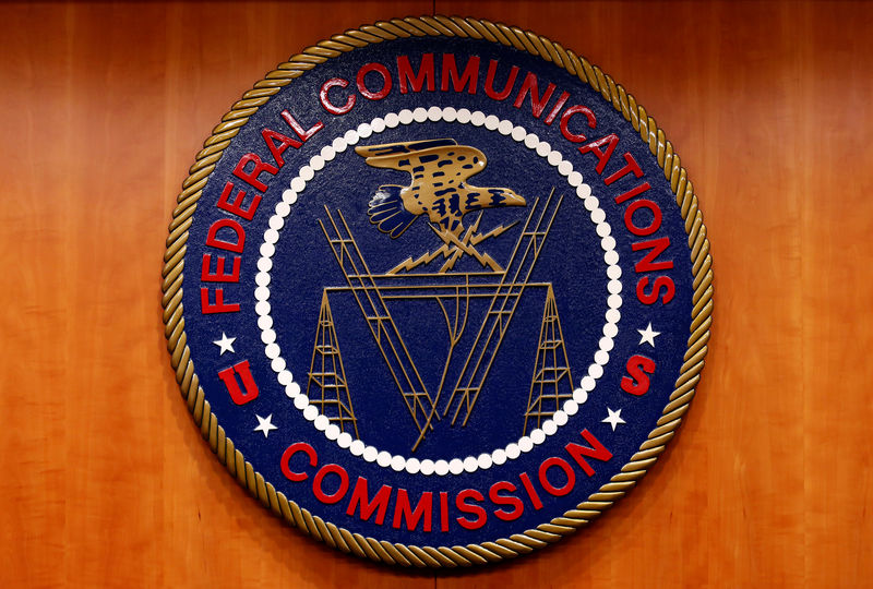 FILE PHOTO: The Federal Communications Commission (FCC) logo is seen in Washington