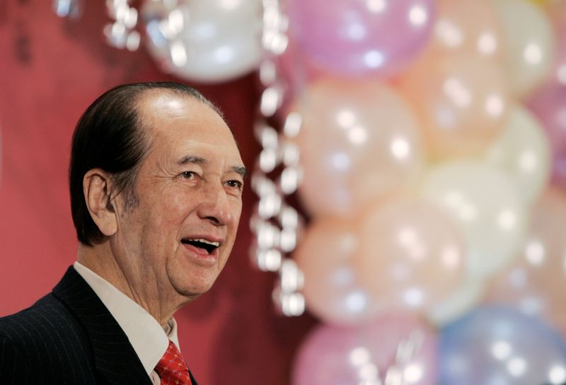 FILE PHOTO:  Macau tycoon Ho celebrates his birthday in Hong Kong