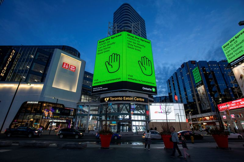 Yonge and Dundas Square in Toronto, Ontario, Canada