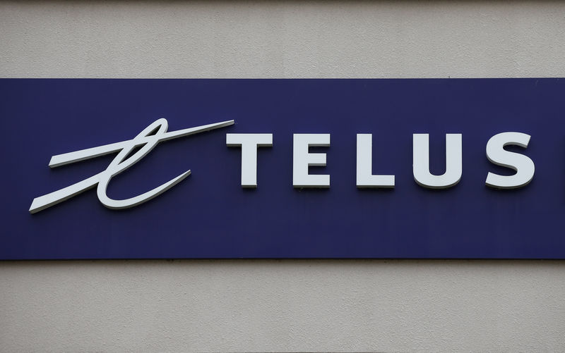 A Telus Corporation sign is pictured in Ottawa