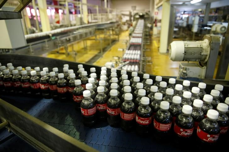 Coca Cola plastic bottles or seen on the production line of the Coca Cola factory in Nairobi