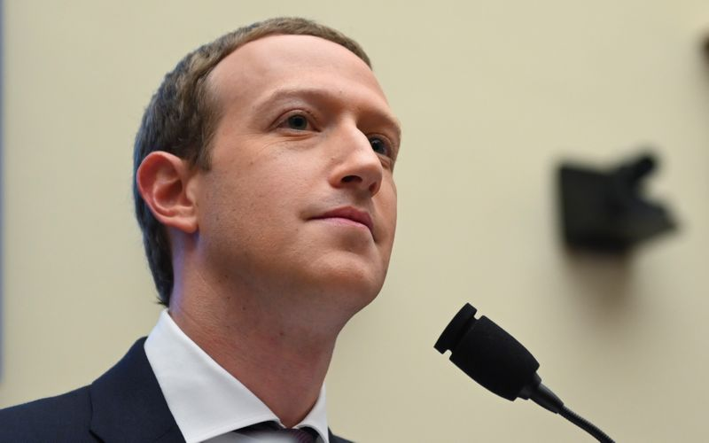 Facebook CEO Zuckerberg testifies at House Financial Services Committee hearing on Capitol Hill in Washington