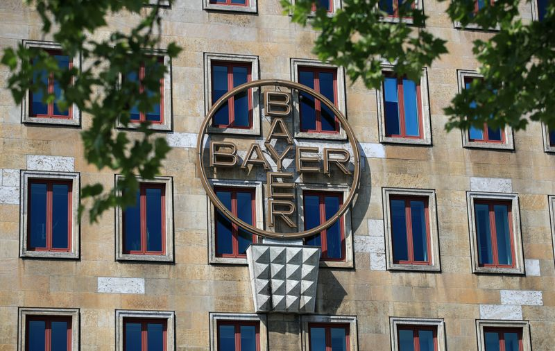 FILE PHOTO: The historic headquarters of German pharmaceutical and chemical maker Bayer AG is pictured in Leverkusen