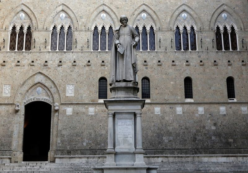 FILE PHOTO: Monte Dei Paschi bank headquarters is pictured in Siena