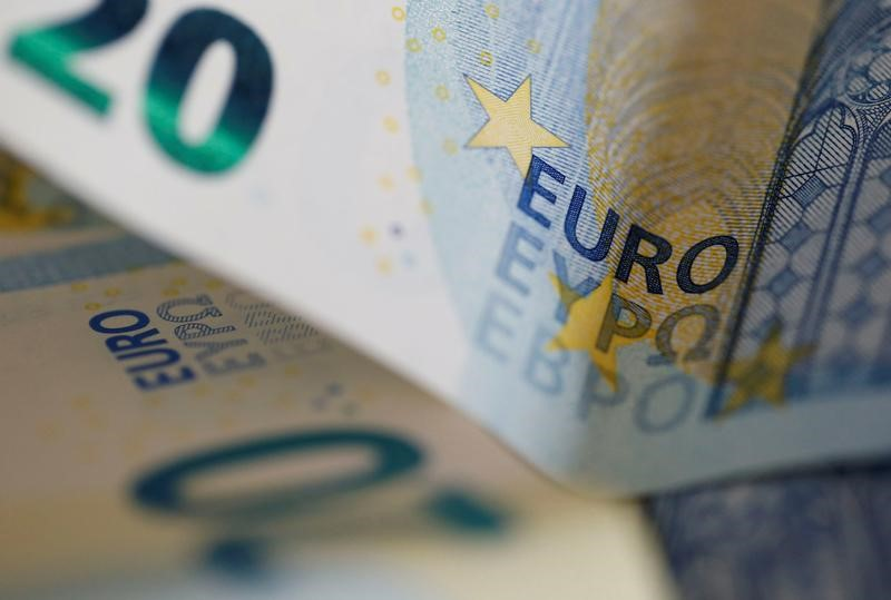 FILE PHOTO: 20 Euro banknotes are seen in a picture illustration, in Bordeaux, Southwestern France