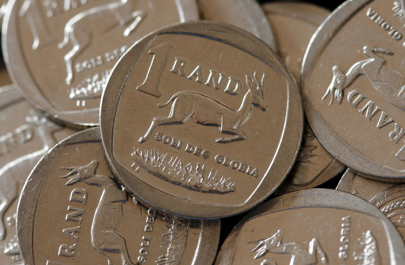 South African Rand coins are seen in this photo illustration