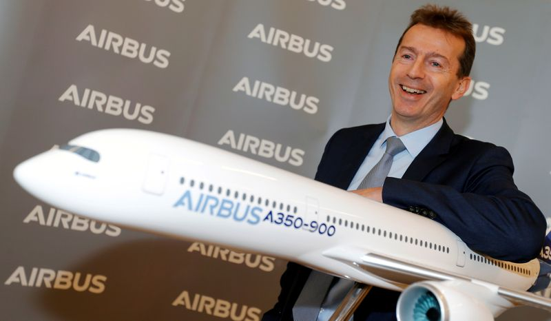 FILE PHOTO: Airbus's annual press conference on Full-Year 2019 results in Blagnac
