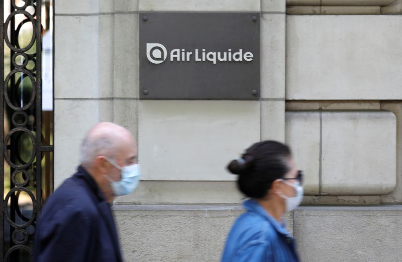 Air Liquide logo is seen in Paris